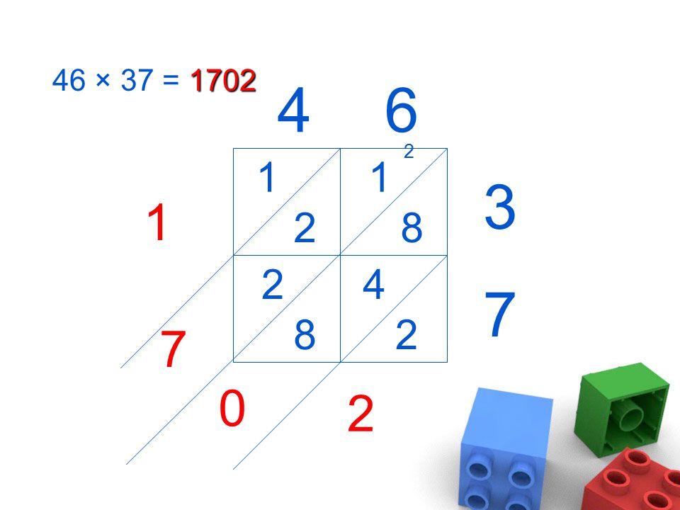 1702 46 × 37 = 1702 46 3 7 1 8 4 2 1 2 2 8 2 0 2 7 1
