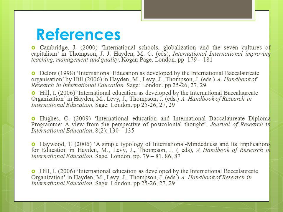 References  Cambridge, J.