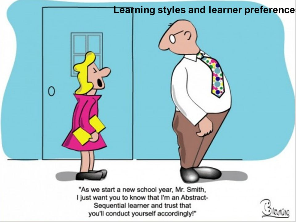 Learning styles and learner preferences