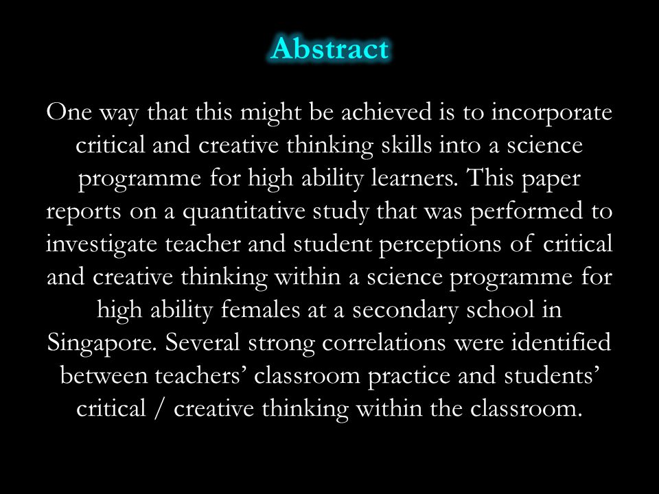 Cramond, B.(2005). Fostering creativity in gifted students.