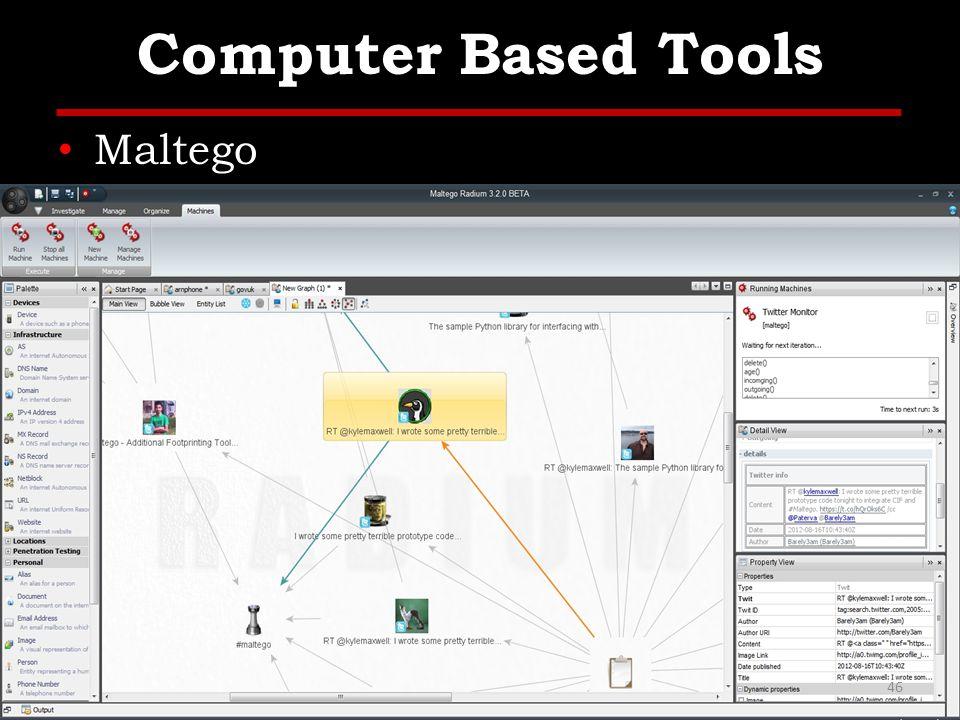 Computer Based Tools Maltego 46