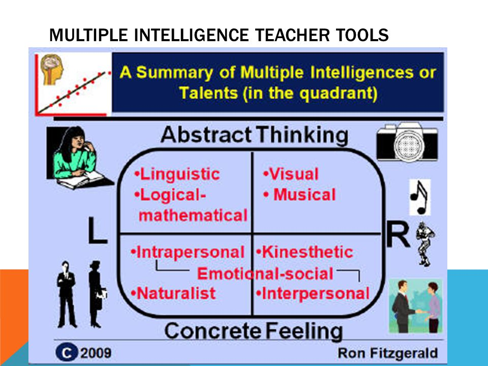 MULTIPLE INTELLIGENCE TEACHER TOOLS