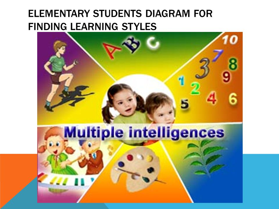 ELEMENTARY STUDENTS DIAGRAM FOR FINDING LEARNING STYLES