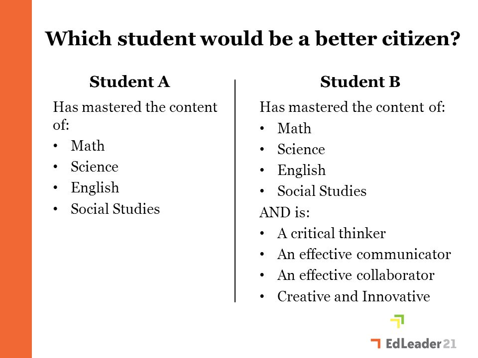 Which student would be more productive in the economy.