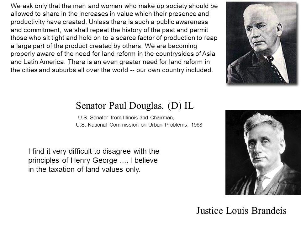 Senator Paul Douglas, (D) IL U.S. Senator from Illinois and Chairman, U.S.