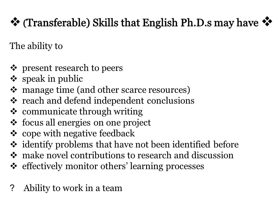 Higher level skills can be acquired more easily Personal skills tend to be harder to change