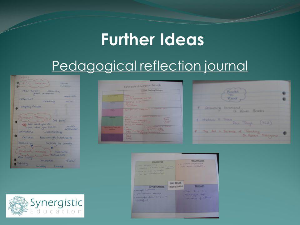Further Ideas Pedagogical reflection journal