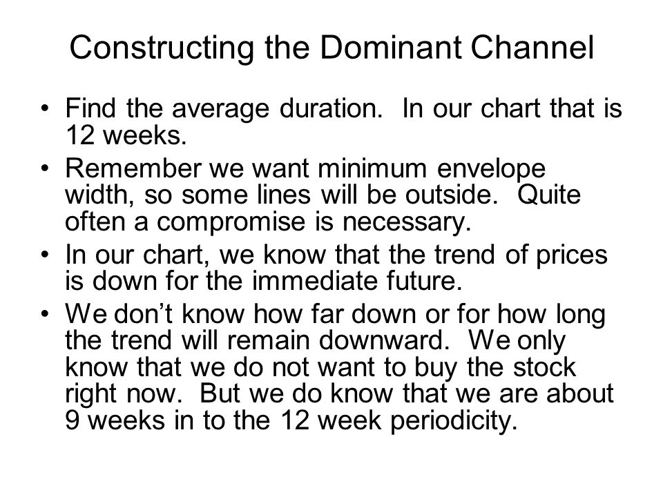Constructing the Dominant Channel Find the average duration.