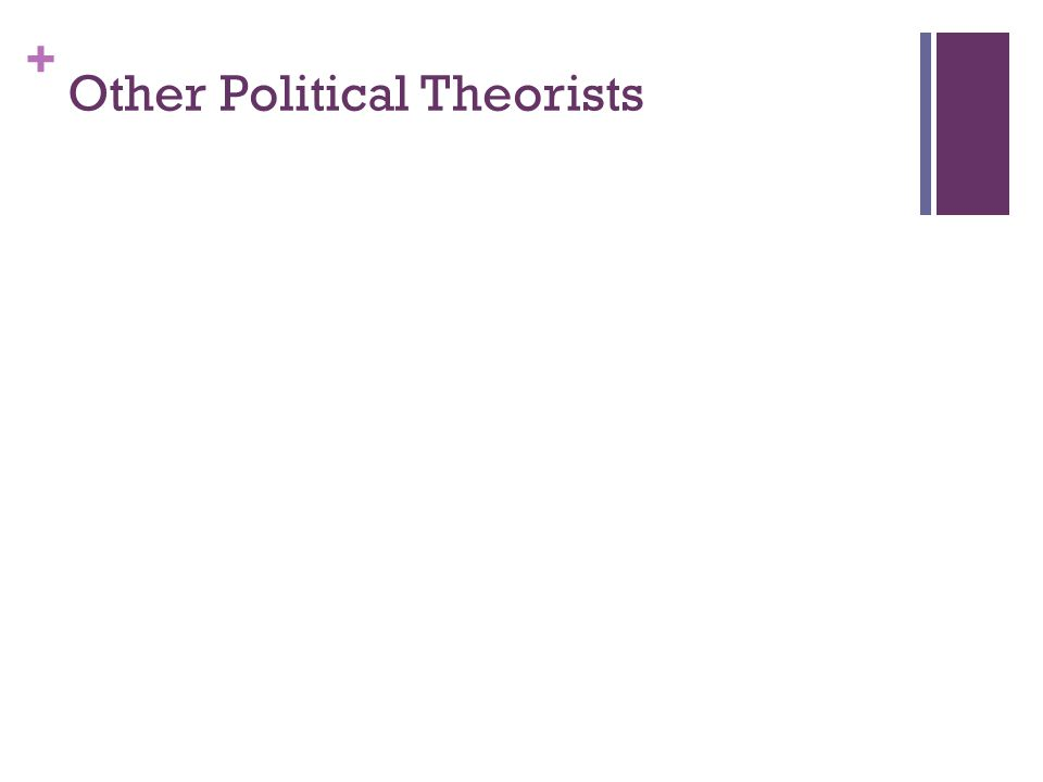 + Other Political Theorists