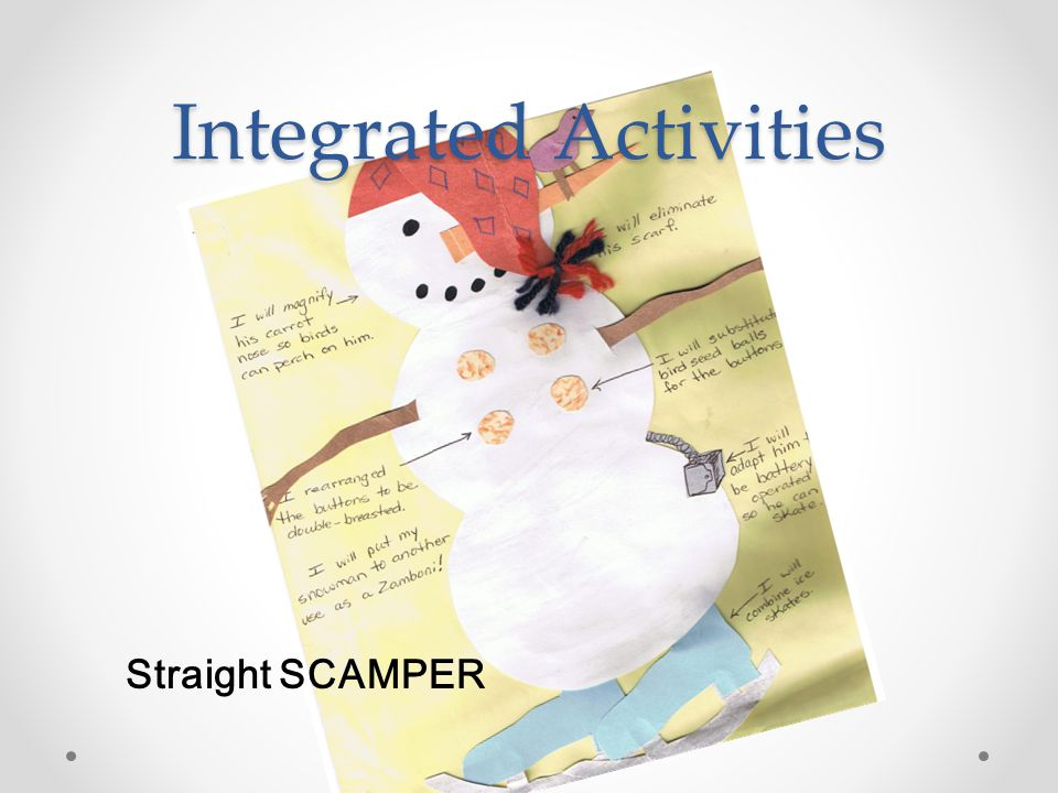 Integrated Activities Straight SCAMPER