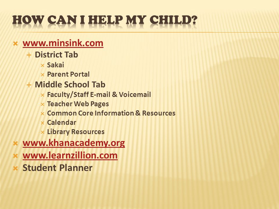  www.minsink.com www.minsink.com  District Tab  Sakai  Parent Portal  Middle School Tab  Faculty/Staff E-mail & Voicemail  Teacher Web Pages 