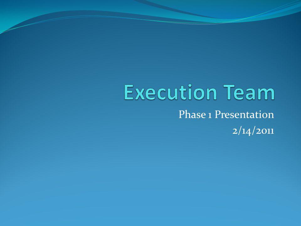 Phase 1 Presentation 2/14/2011