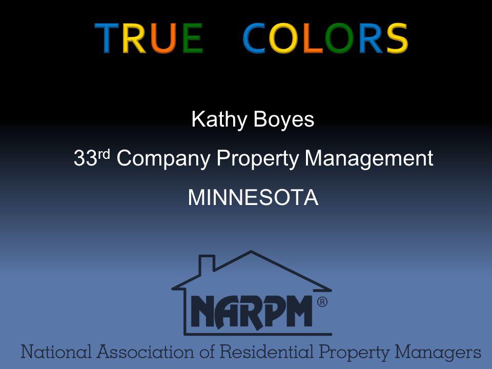Kathy Boyes 33 rd Company Property Management MINNESOTA