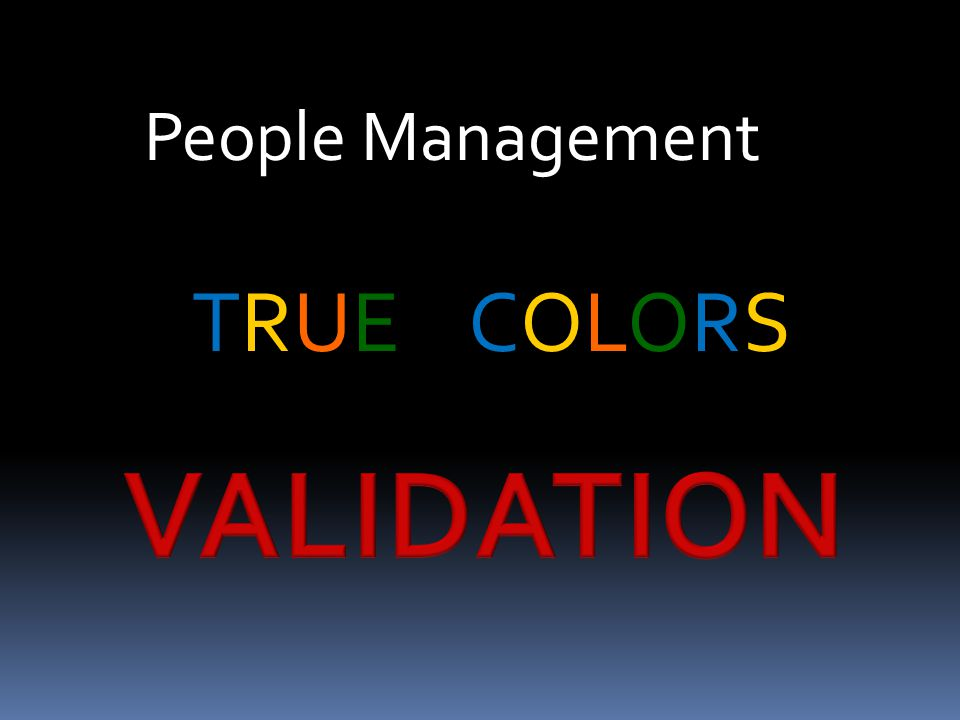 People Management TRUE COLORS
