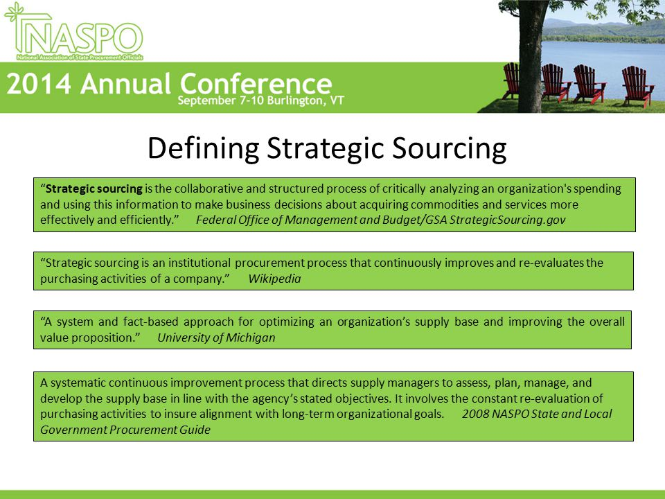 Did your state retain a consultant to implement Strategic Sourcing.
