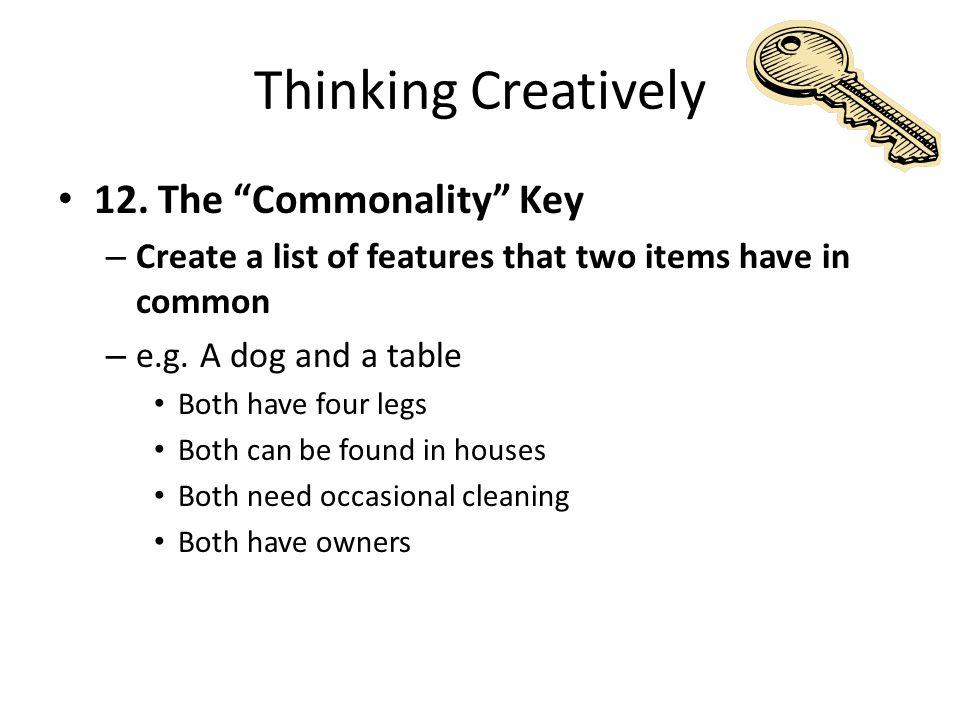 Thinking Creatively 12.