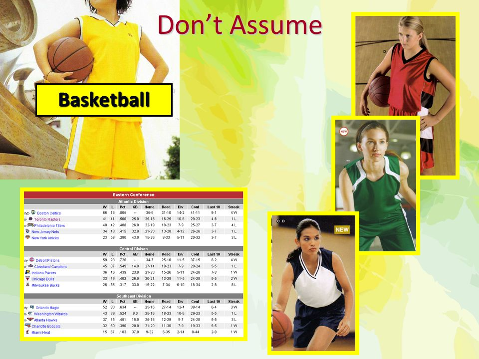Don't Assume Basketball