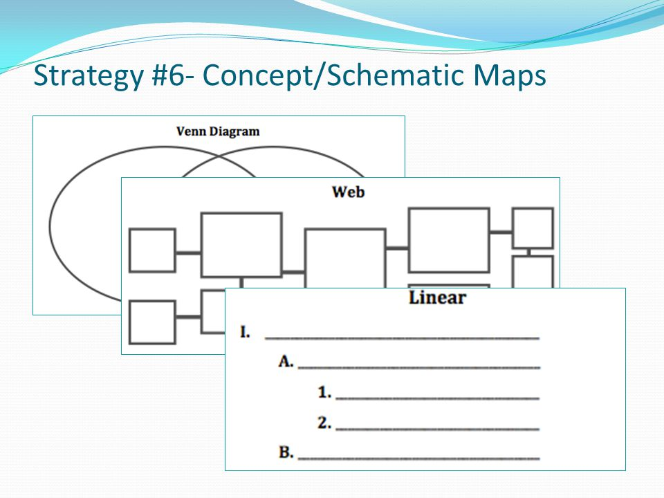 Strategy #6- Concept/Schematic Maps