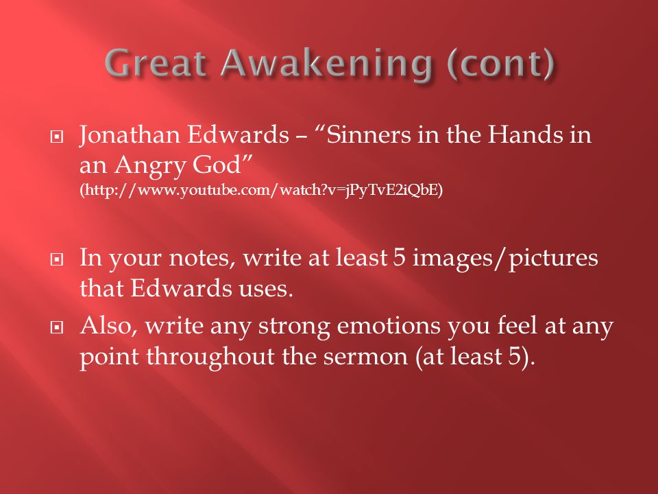  In your notes, write at least 5 images/pictures that Edwards uses.