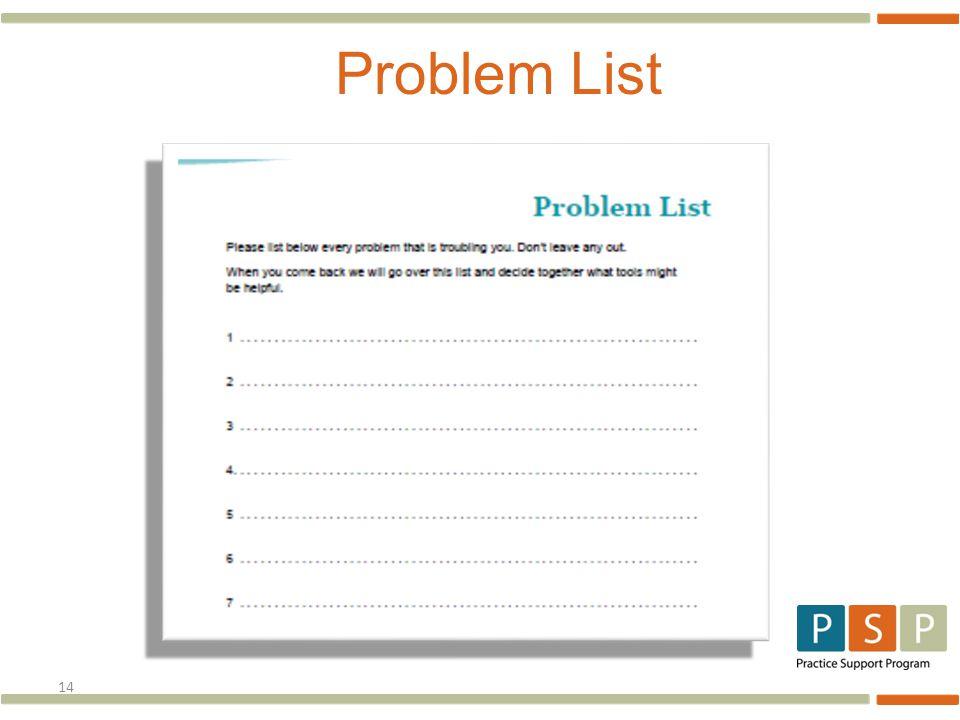 14 Problem List