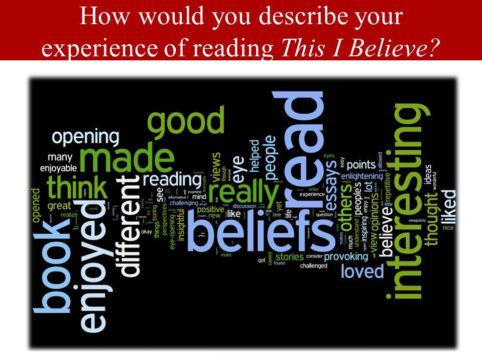 This I Believe – UofL louisville.edu/bookincommon
