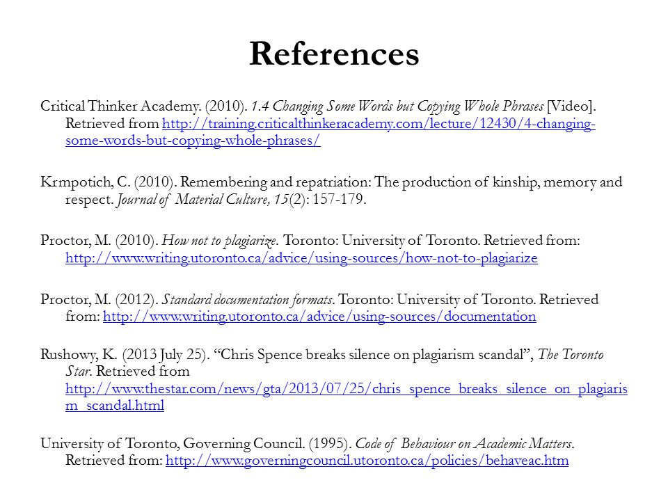 References Critical Thinker Academy. (2010).