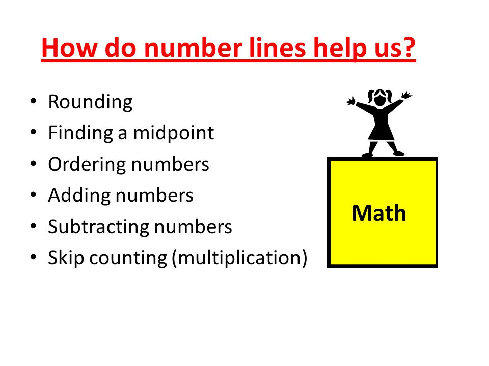 How do number lines help us.