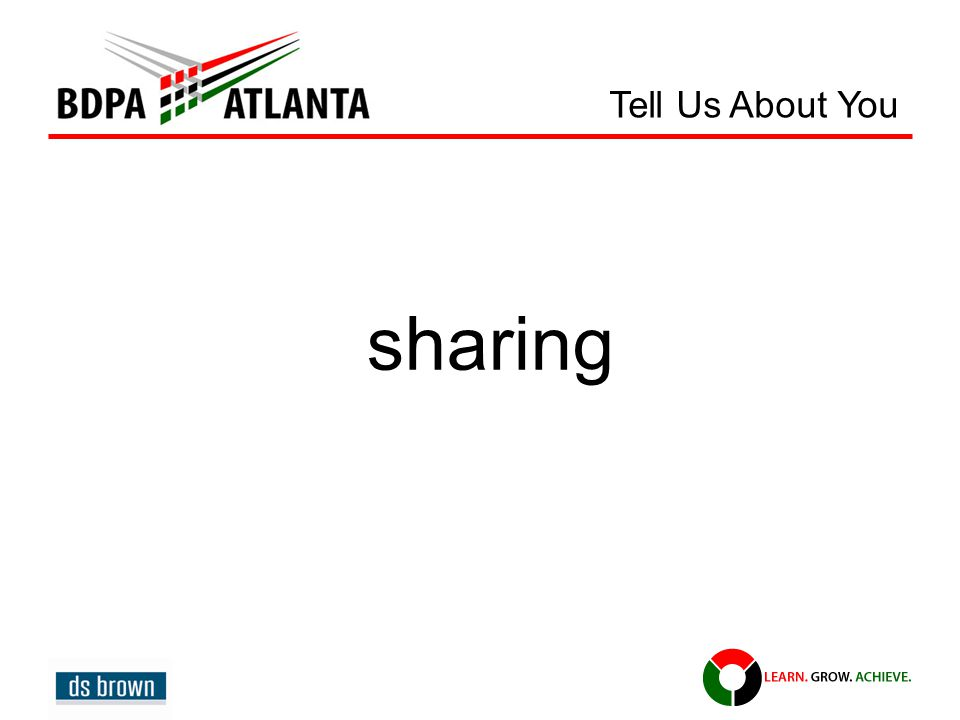sharing Tell Us About You
