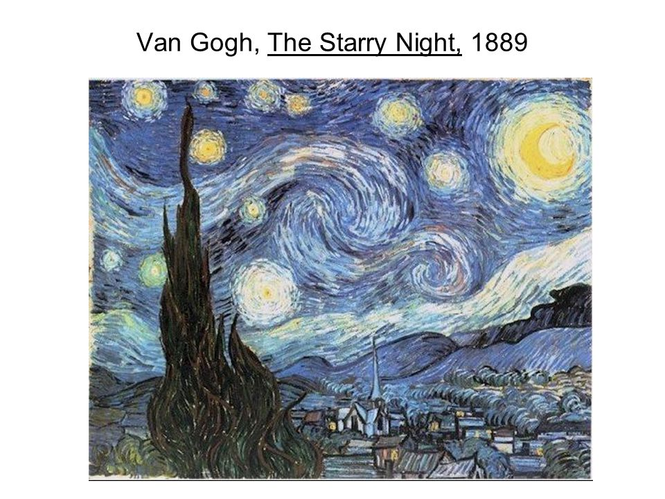 Van Gogh, The Starry Night, 1889