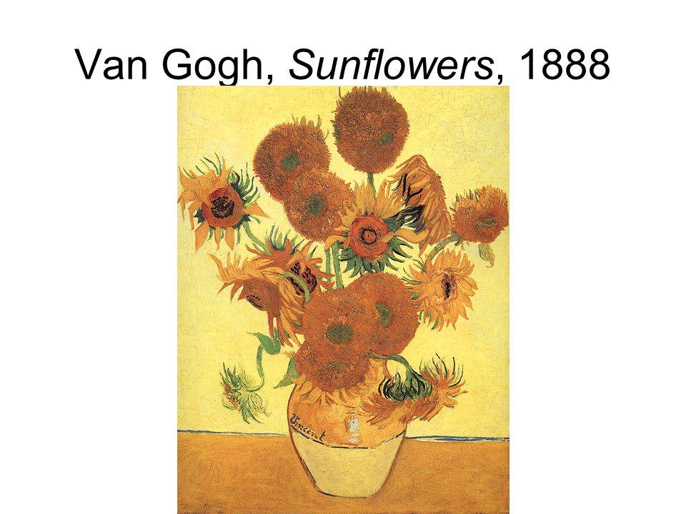 Van Gogh, Sunflowers, 1888