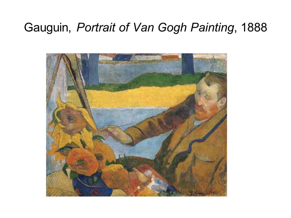 Gauguin, Portrait of Van Gogh Painting, 1888