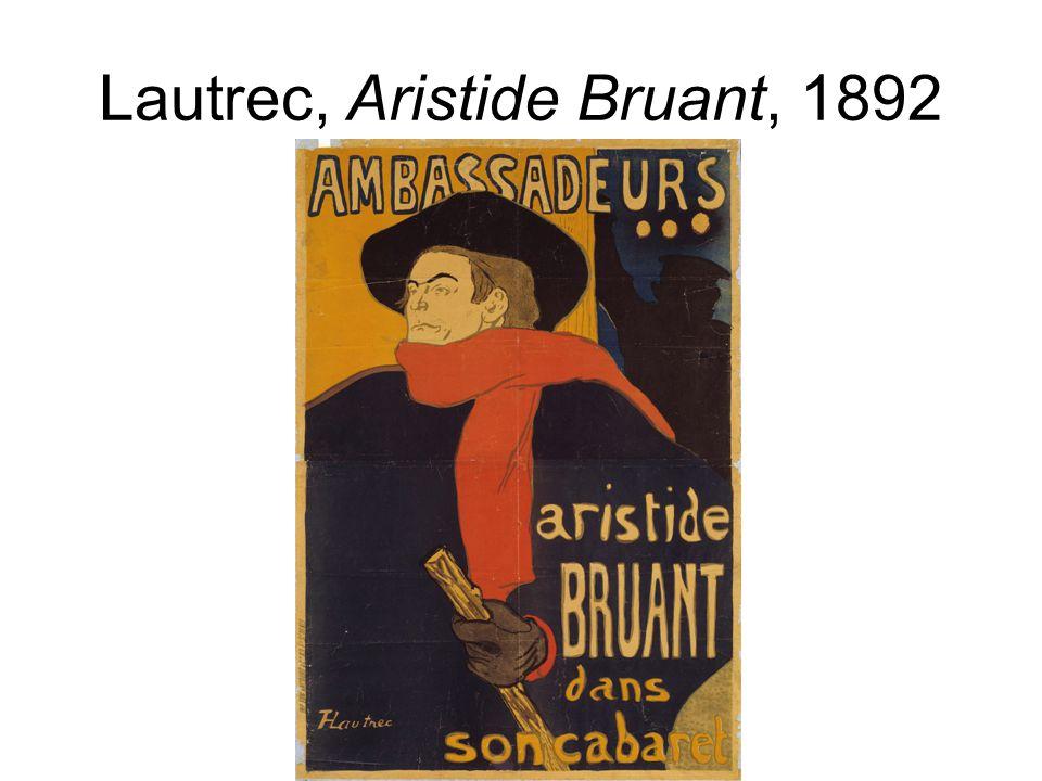 Lautrec, Aristide Bruant, 1892