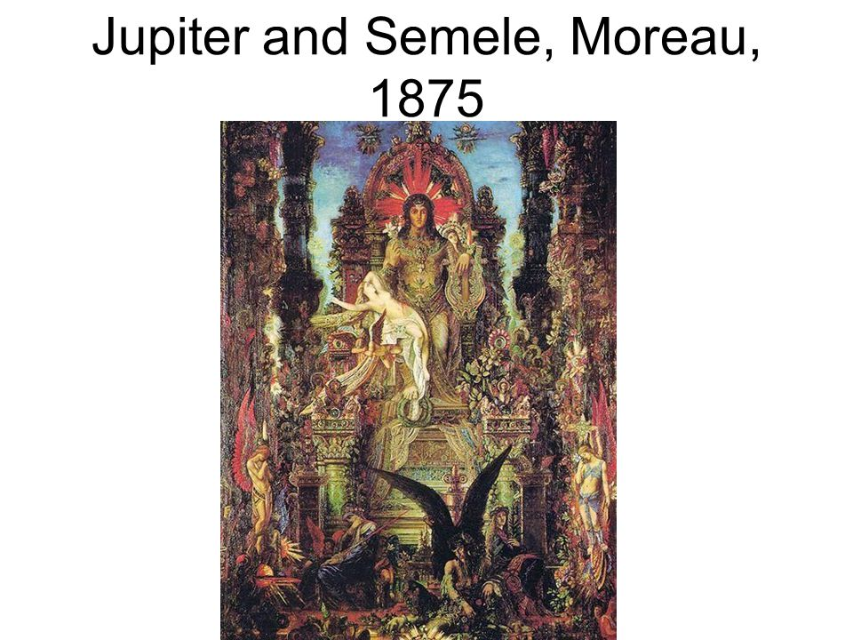 Jupiter and Semele, Moreau, 1875