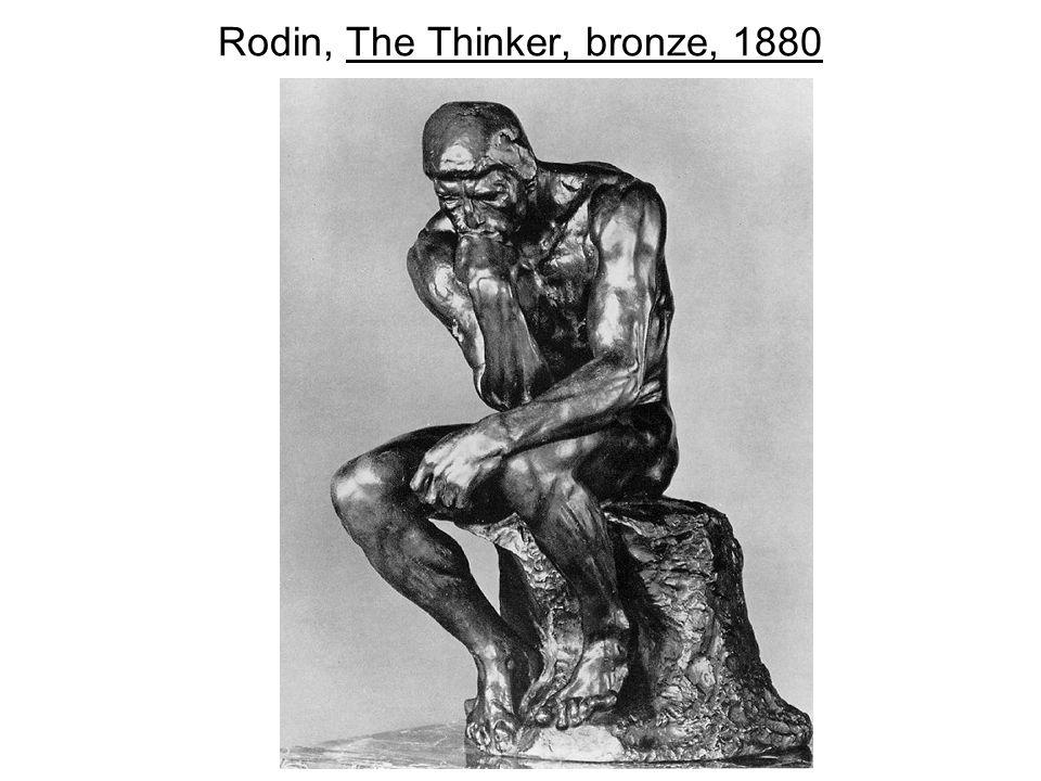 Rodin, The Thinker, bronze, 1880