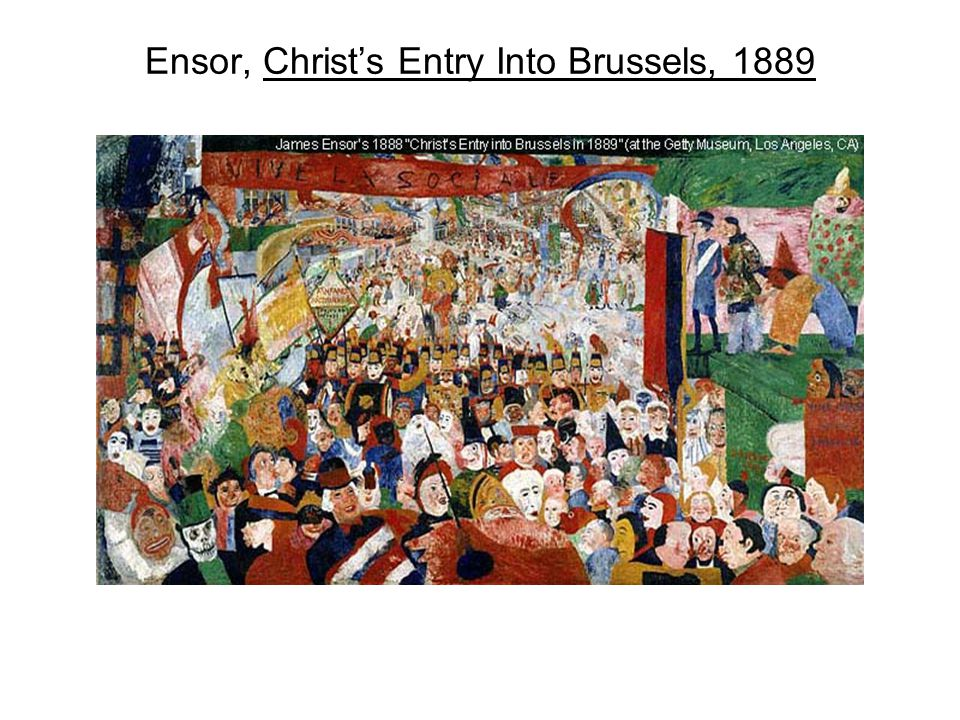 Ensor, Christ's Entry Into Brussels, 1889