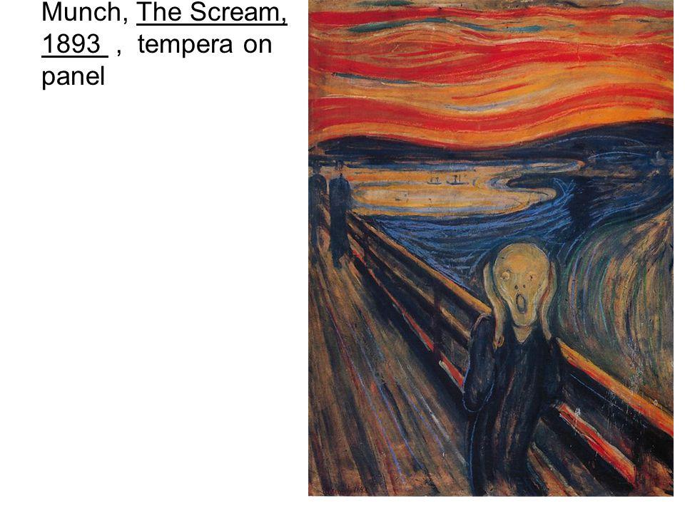 Munch, The Scream, 1893, tempera on panel