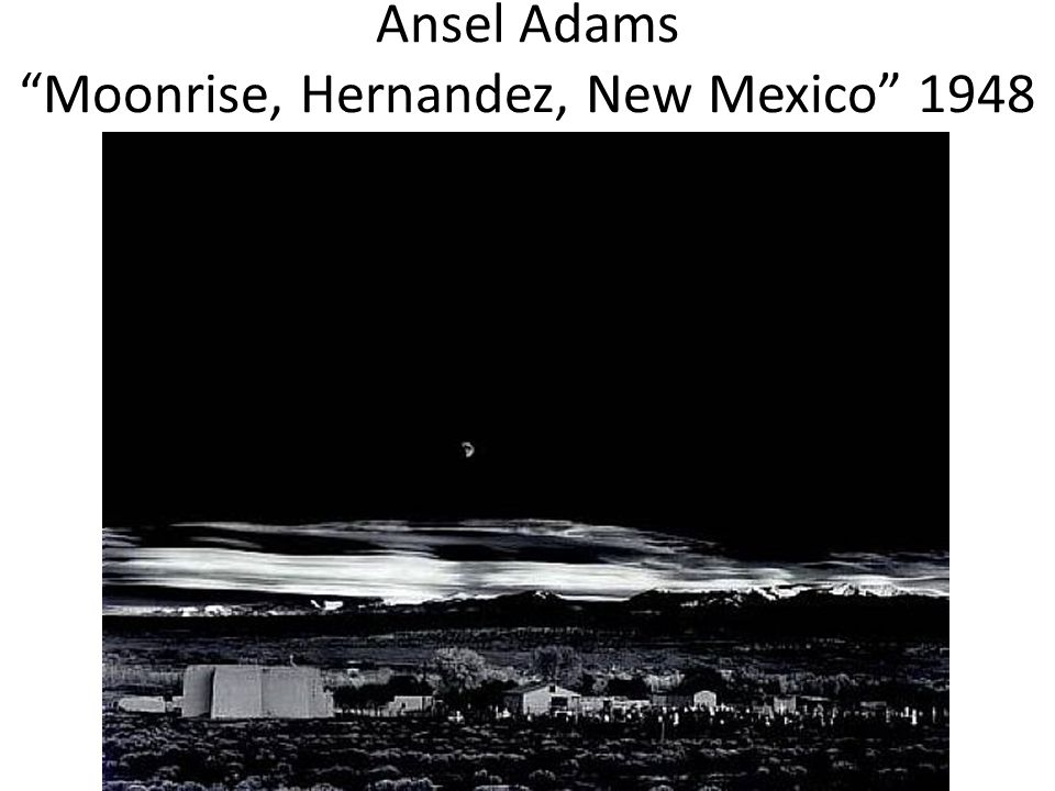 Ansel Adams Moonrise, Hernandez, New Mexico 1948