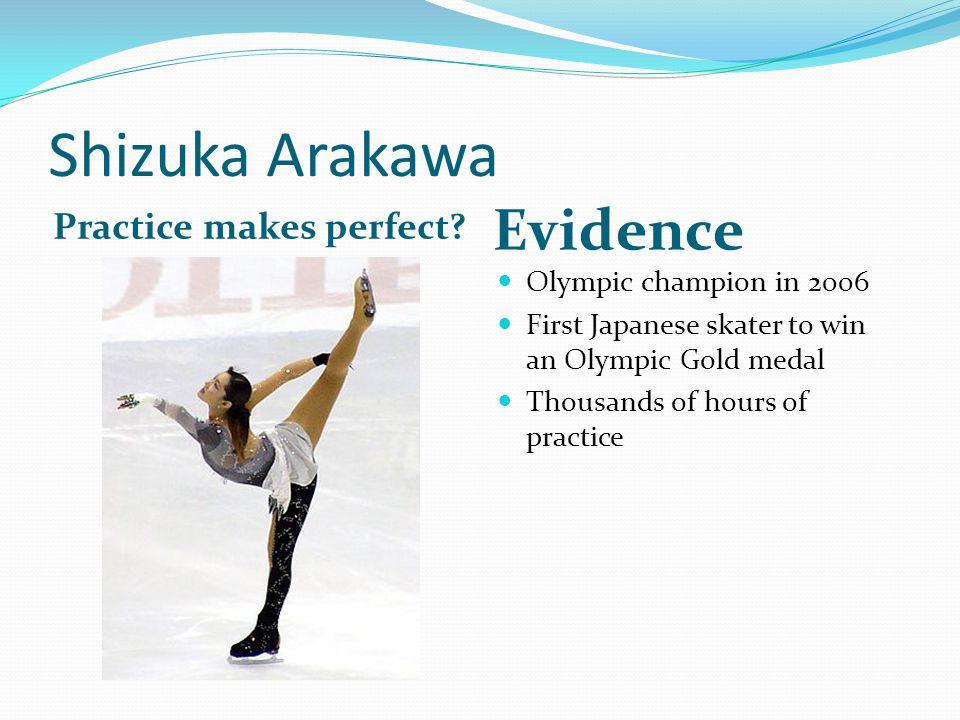 Shizuka Arakawa Practice makes perfect.