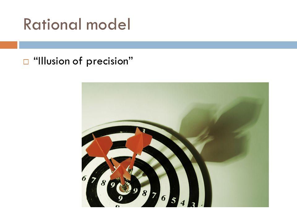 "Rational model  ""Illusion of precision"""