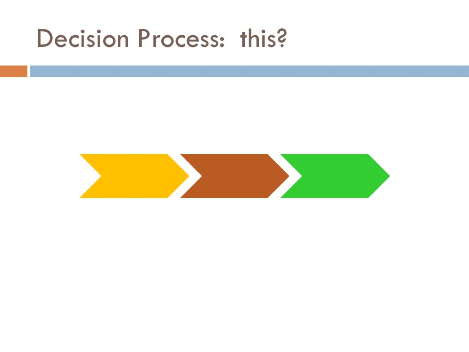 Decision Process: this?