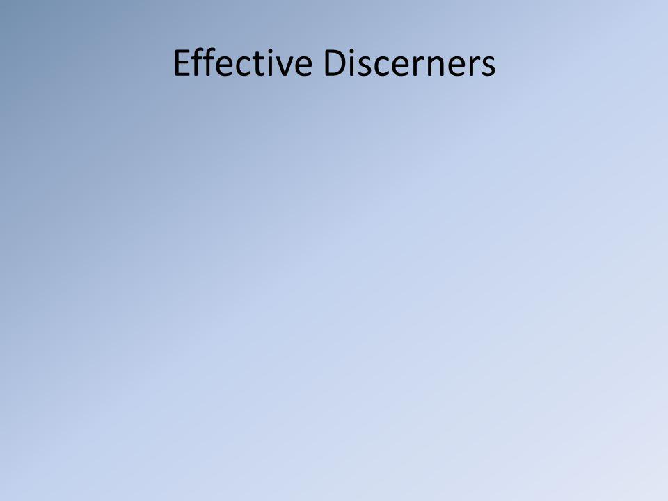 Effective Discerners