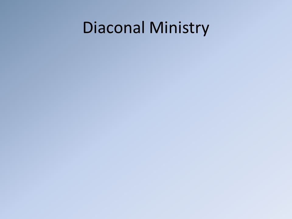 Diaconal Ministry