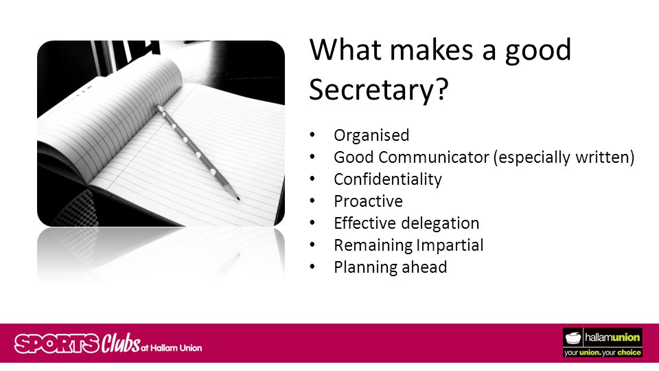 What makes a good Secretary.