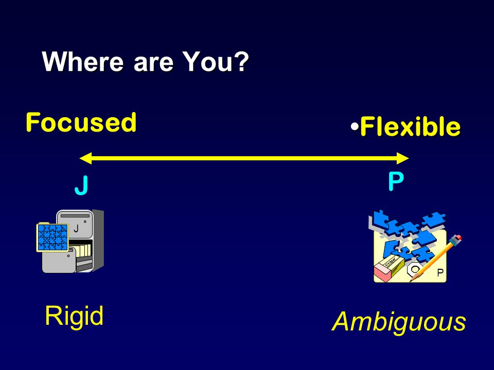 Where are You FlexibleFlexible P Ambiguous Focused J J Rigid