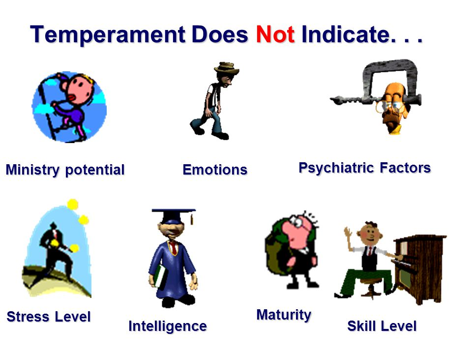 Temperament Does Indicate your Preferred Ways of Thinking and Behaving And can help you to: –Understand your specific calling from God, –Relate to other people more effectively, –Contribute more fruitfully, –Be more focused and purposeful.