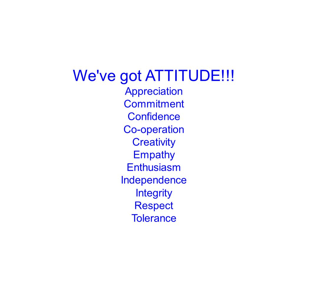 We ve got ATTITUDE!!.
