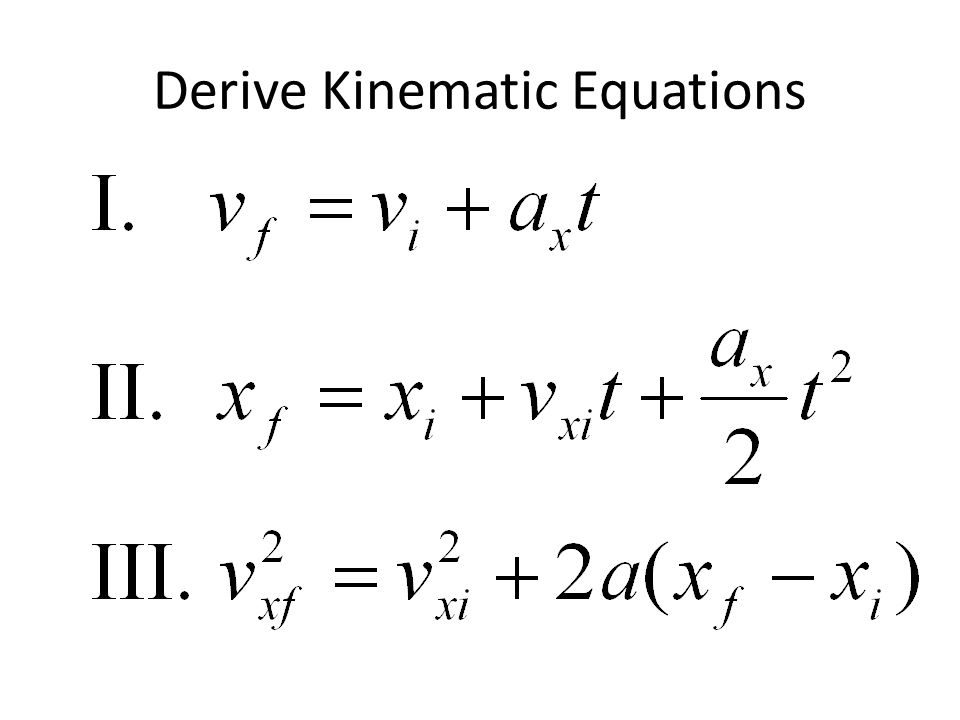 Derive Kinematic Equations