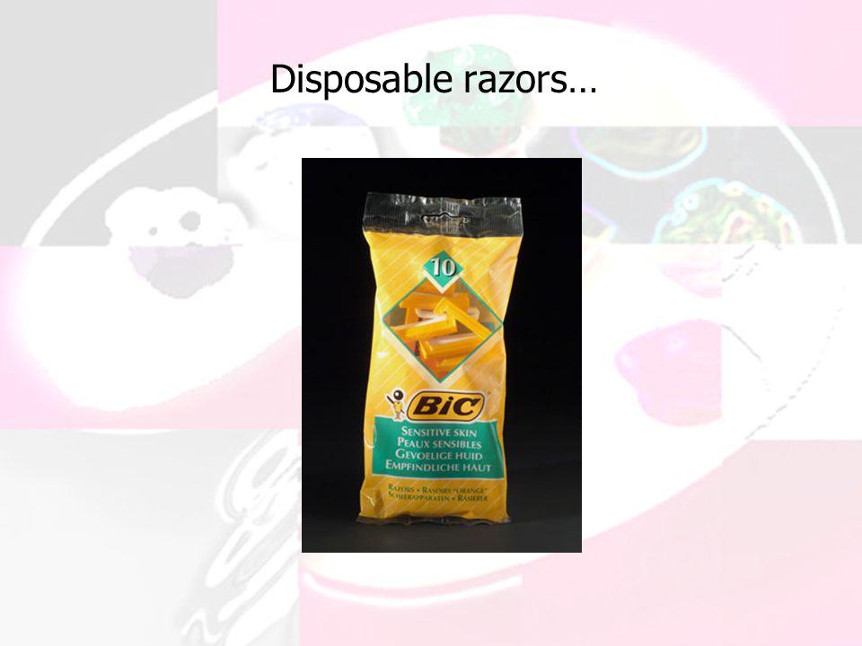 Disposable razors…
