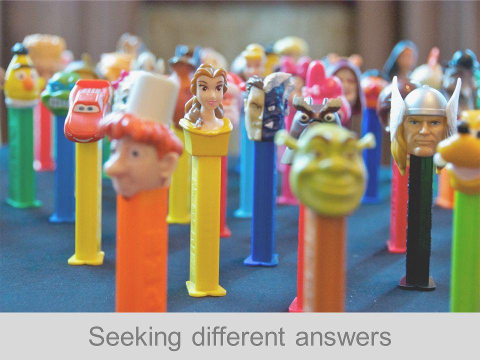 Seeking different answers