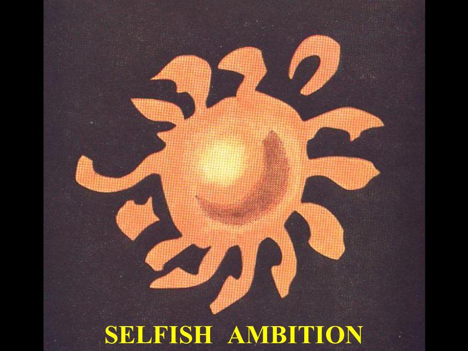 SELFISH AMBITION